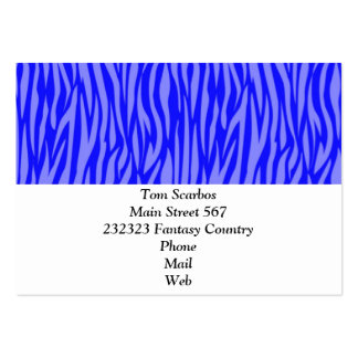 abstract animal print,blue pack of chubby business cards