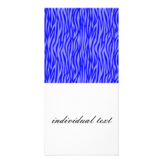 abstract animal print,blue photo card