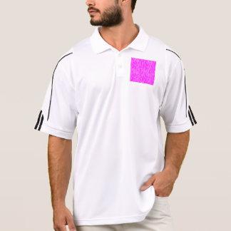 abstract animal print pink polo shirt