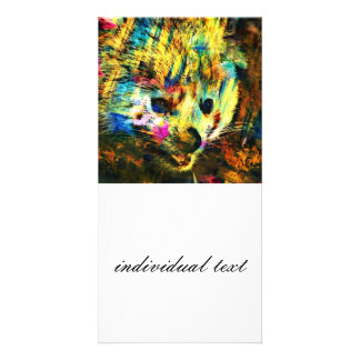 abstract Animal - red Panda Personalized Photo Card