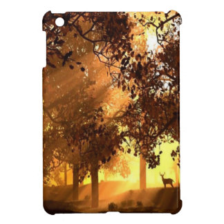 Abstract Animal Sun Wood iPad Mini Cover