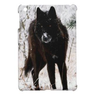 Abstract Animal Winter Wolf Hound iPad Mini Case