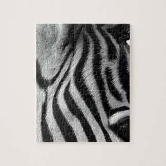Abstract Animal Zebra Eye Jigsaw Puzzle