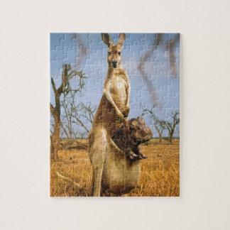 Abstract Animals Kangaroo Baby Shock Puzzle