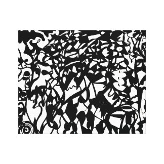 Abstract Anything Goes Black & White Canvas Art