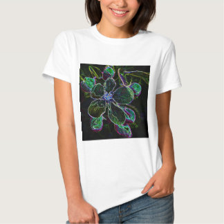Abstract Apple Blossom ladies baby doll Tees