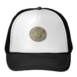 Abstract Aqua and Green Botanical Trucker Hats