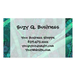 Abstract Aqua Green Purple Retro Circle Mosaic Business Card Templates