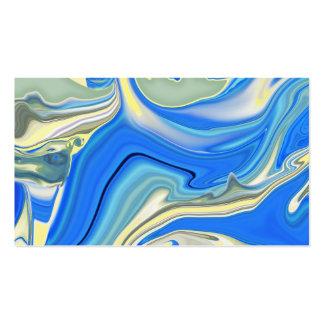 Abstract Aqua River Delta Business Card