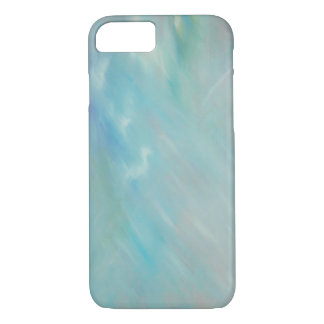 Abstract aqua teal acrylic painting iPhone 7 case
