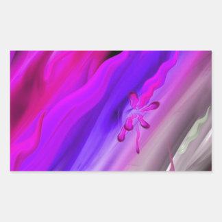 Abstract aquarelle rectangular sticker