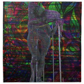 Abstract Aquarius Goddess Napkin