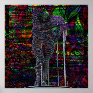 Abstract Aquarius Goddess Poster