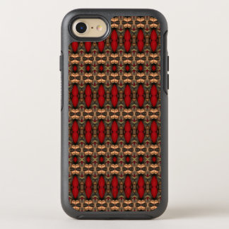 Abstract Architecture Art Coffee & Ox Blood OtterBox Symmetry iPhone 8/7 Case
