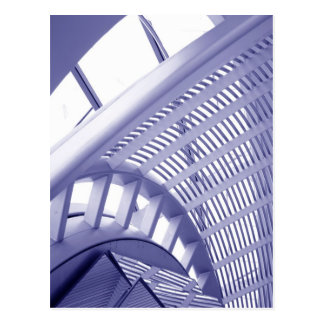 Abstract architecture design postcard