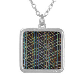 Abstract Architecture Silver Plated Necklace