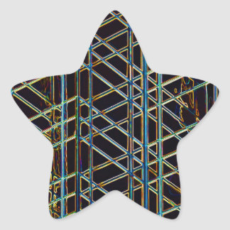 Abstract Architecture Star Sticker