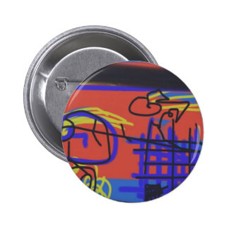 Abstract Art Barbed Wire Pinback Buttons