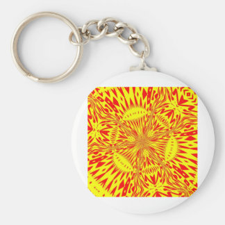 ABSTRACT ART BASIC ROUND BUTTON KEY RING