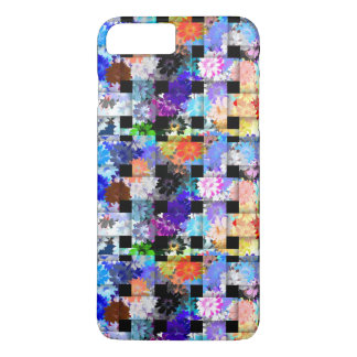 Abstract Art Basket Weave Fence Floral Flower Case