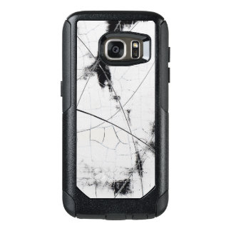 Abstract art black and white crackle with design OtterBox samsung galaxy s7 case