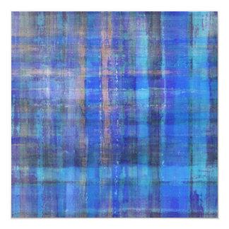 Abstract Art Blue Invitation Card