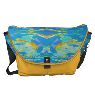 Abstract Art Blue Orange Green Courier Bags