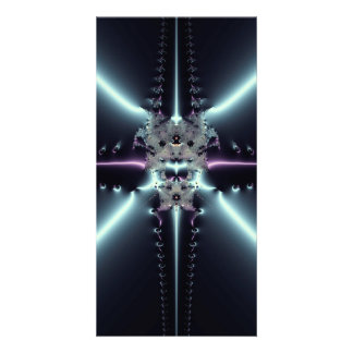 Abstract Art Blue Star Photo Card