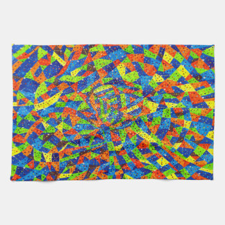 Abstract Art Bright And Colorful Dotted Mosaic Towel