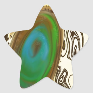 Abstract Art | Brown Agate Star Stickers