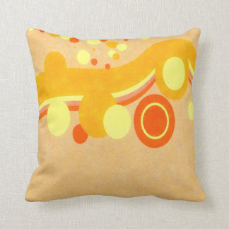 Abstract Art Brown Background Yellow And Orange Ci Cushion