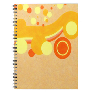 Abstract Art Brown Background Yellow And Orange Ci Notebook