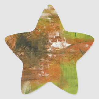 Abstract Art by s.b. Eazle Star Stickers