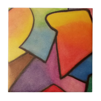 Abstract art ceramic tile