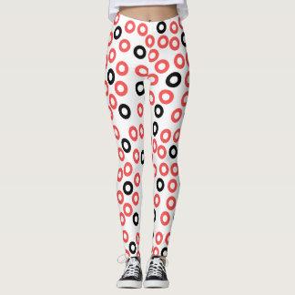 Abstract Art circles design leggings