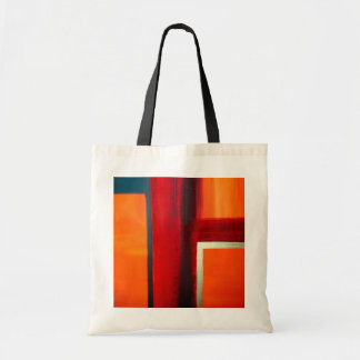 Abstract Art Color Fields Orange Red Green Gold Bags