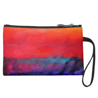 Abstract Art Colorful Modern Painting Wristlet