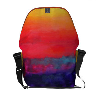 Abstract Art Colorful Modern Painting Courier Bag