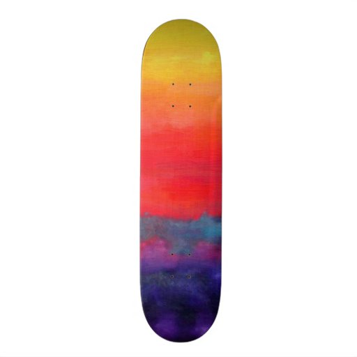 Abstract Art Colorful Modern Painting Skateboard Decks