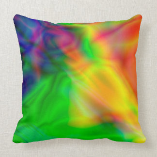 Abstract art Colors green, red pillow