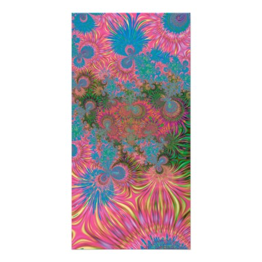 Abstract Art Corals Picture Card