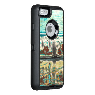 Abstract art crackle surface and design OtterBox defender iPhone case