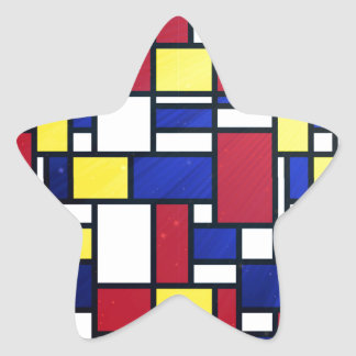 Abstract art, cubism, colorful, modern,fun,chic stickers