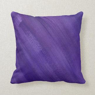 Abstract art dark purple ultraviolet brushed cushion