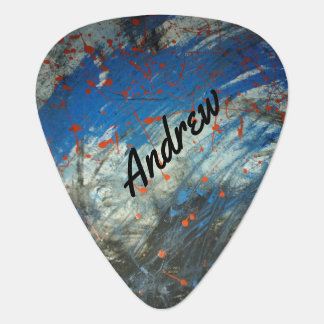 Abstract art design personalize guitar pick