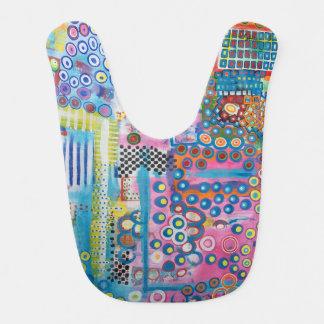 "Abstract Art Designer Baby Bibs ""Dots & Ladders"""