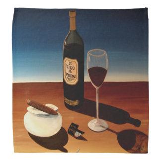 "Abstract Art Designer Bandanas ""Wine & Cigars"