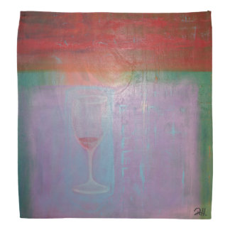 "Abstract Art Designer Bandanas ""Wine Glass"""