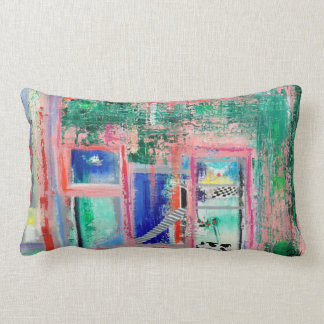 "Abstract Art Designer Lumber Pillow ""Spa Day"""