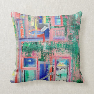 "Abstract Art Designer Pillow ""Spa Day"""